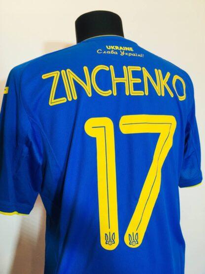 UKRAINE 2020/2021 AWAY SHIRT #17 ZINCHENKO [MATCH ISSUE]