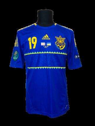 UKRAINE 2012/2014 AWAY SHIRT #19 KONOPLIANKA [MATCH WORN]
