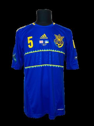 UKRAINE 2012/2014 AWAY SHIRT #5 KUCHER [MATCH ISSUE]