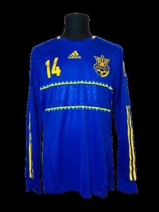 UKRAINE 2012/2014 AWAY SHIRT #14 ROTAN [L/S] [PLAYER ISSUE]