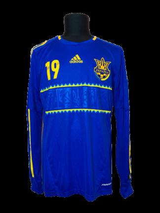 UKRAINE 2012/2014 AWAY SHIRT #19 KONOPLIANKA [L/S] [PLAYER ISSUE]