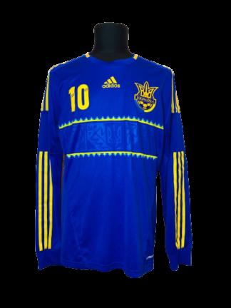 UKRAINE 2012/2014 AWAY SHIRT #10 VORONIN [L/S] [MATCH WORN]