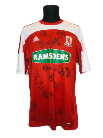 MIDDLESBROUGH 2011/2012 HOME SHIRT [SIGNED]