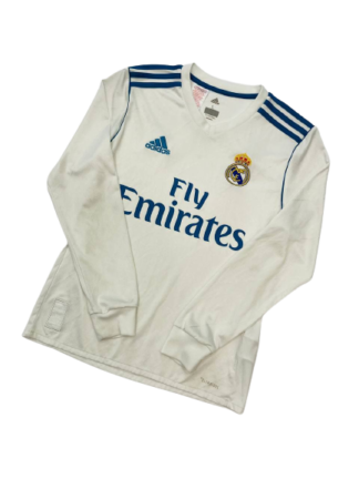 REAL MADRID 2017/2018 HOME SHIRT [L/S] [YOUTHS]